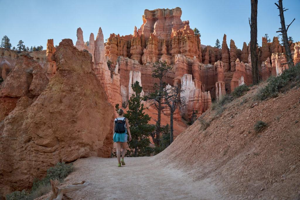 Wanderung durch den Bryce Canyon, Utah.