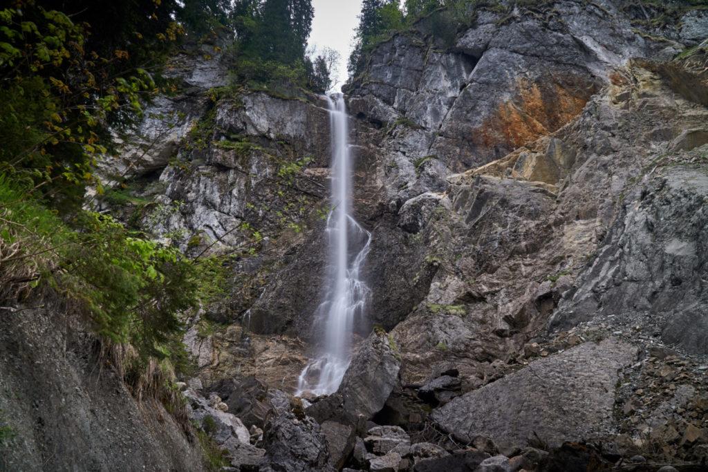 Wasserfall Scheuenalpe Allgäu Nagelfluhette Wanderung