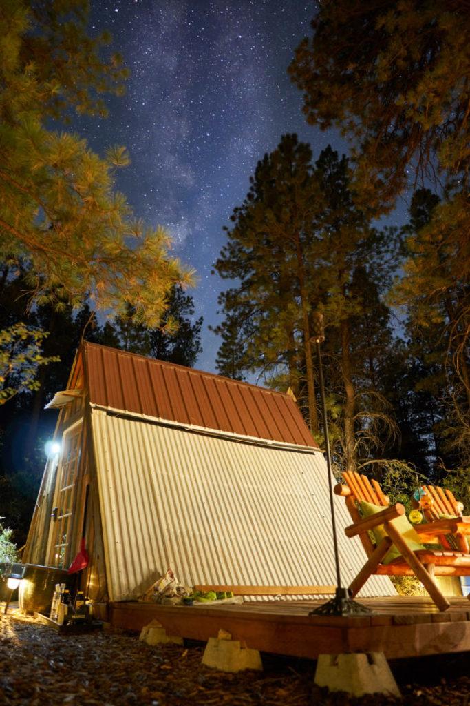 einzigartige Unterkünfte USA Zion Canyon Roadtrip Hütte im Wald
