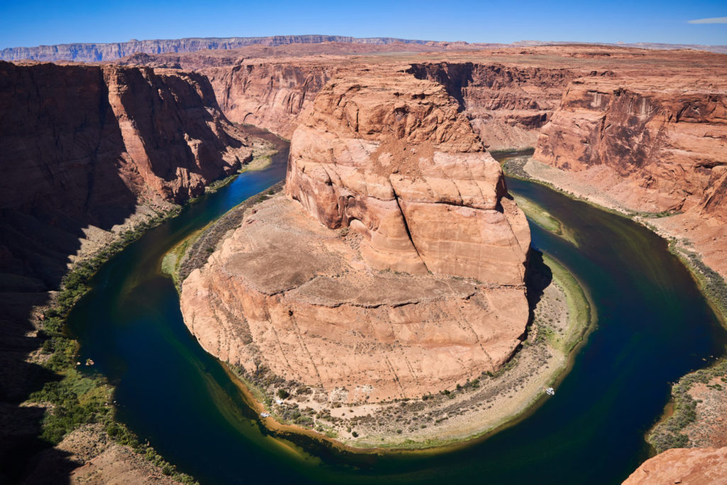 Die perfekte USA Roadtrip Route durch den Südwesten: Horseshoe Bend Colorado River Arizona