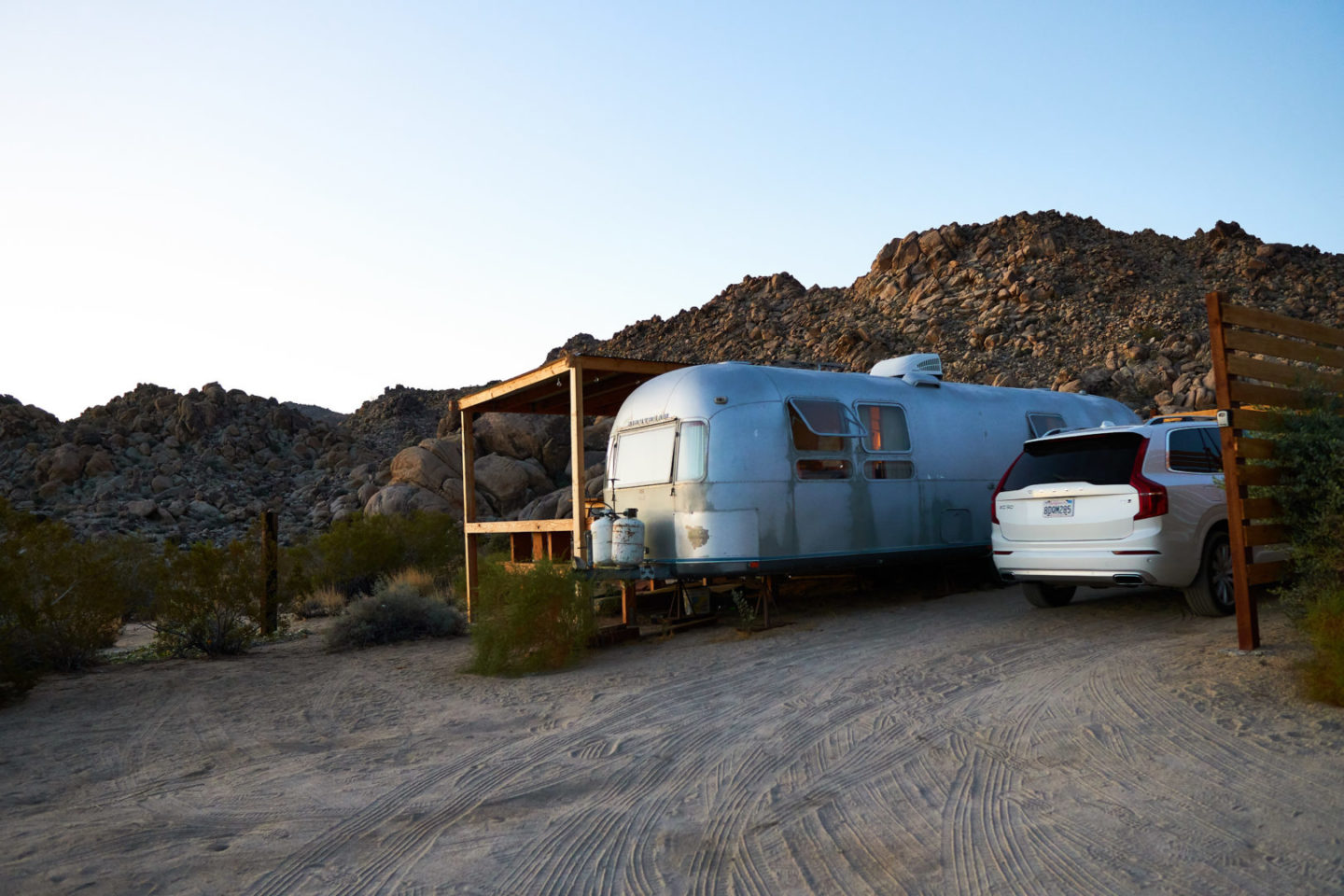 USA Mietwagen Guide: Airstream Trailer im Joshua Tree Nationalpark.