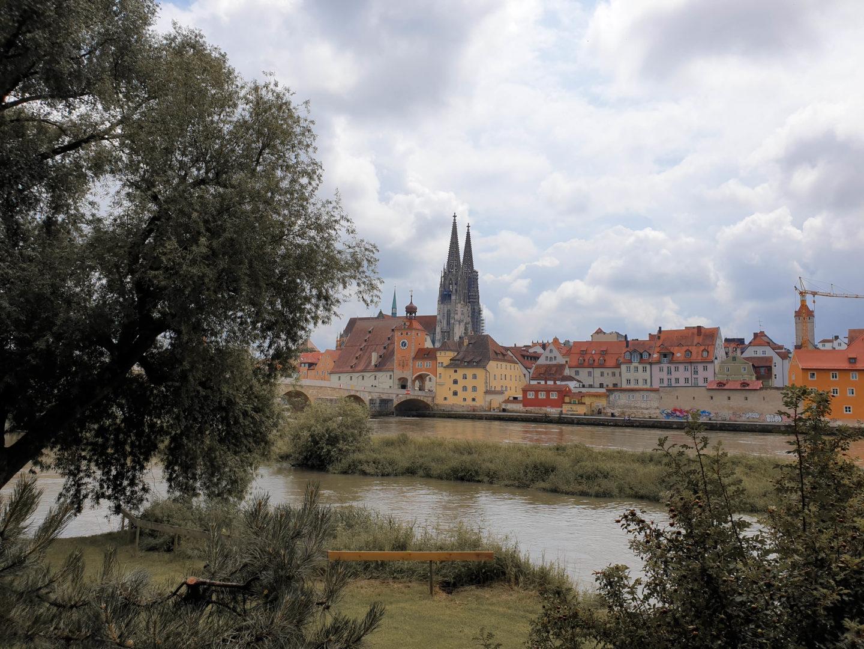 Skyline Regensburg in der Oberpfalz