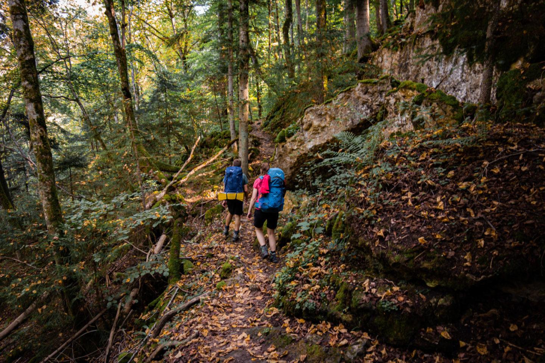 Trekking auf dem Schluchtensteig im Schwarzwald - Durch die Wutachflühen.