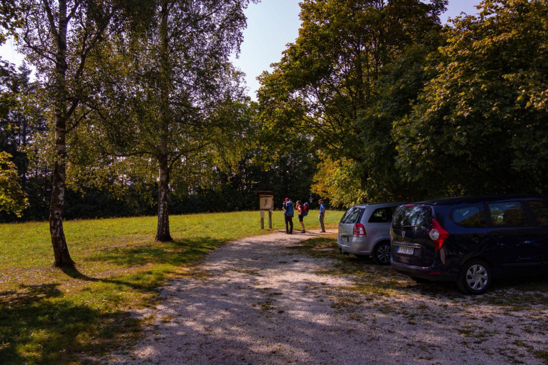 Wanderparkplatz am Ende der Wutachflühen.