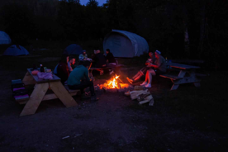 Lagerfeuer im Naturcamp Schluchsee.