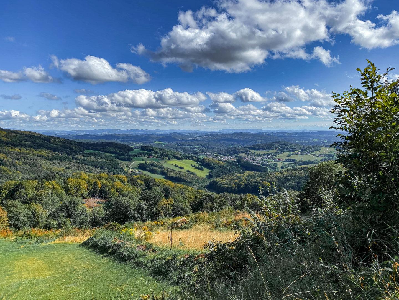 Die schönsten Herbstwanderungen im Bayerischen Wald: Blick über die Donauebene.